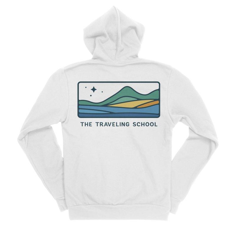 TTS Horizontal Color Logo in Men's Sponge Fleece Zip-Up Hoody White by The Traveling School Apparel Shop