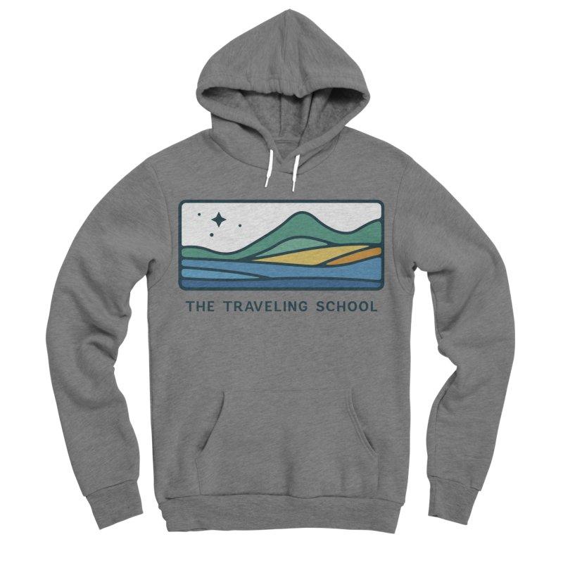 TTS Horizontal Color Logo in Men's Sponge Fleece Pullover Hoody Heather Graphite by The Traveling School Apparel Shop