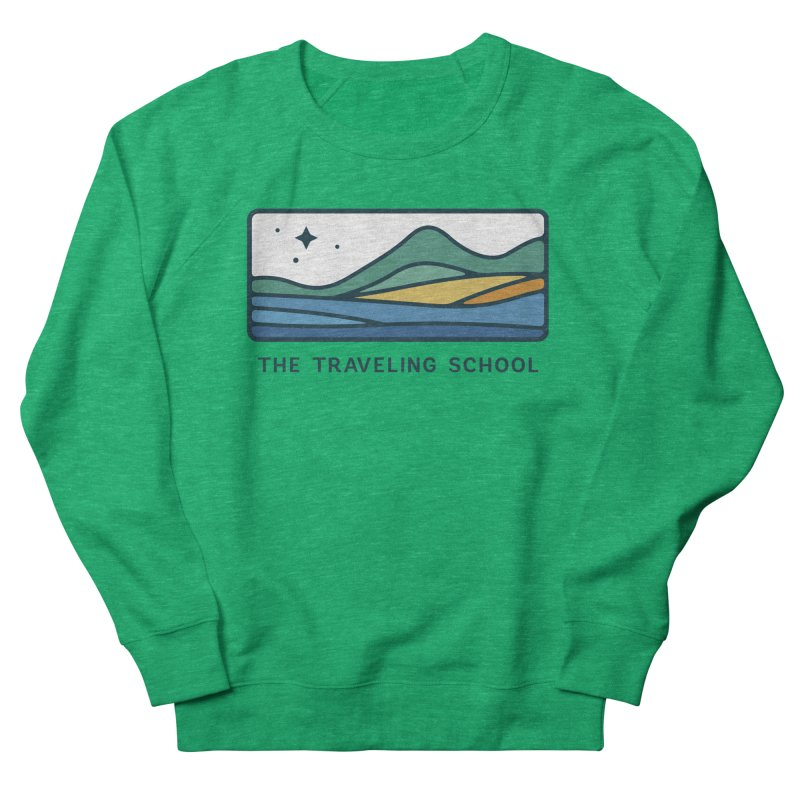 TTS Horizontal Color Logo in Women's French Terry Sweatshirt Heather Kelly by The Traveling School Apparel Shop