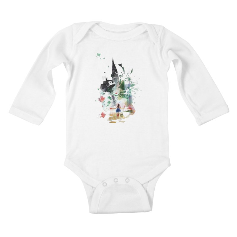 Not in Kansas Anymore Kids Baby Longsleeve Bodysuit by Travis Clarke's Artist Shop