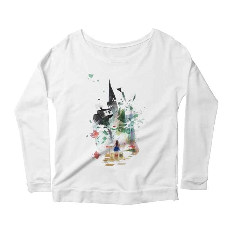 Not in Kansas Anymore Women's Longsleeve Scoopneck  by Travis Clarke's Artist Shop