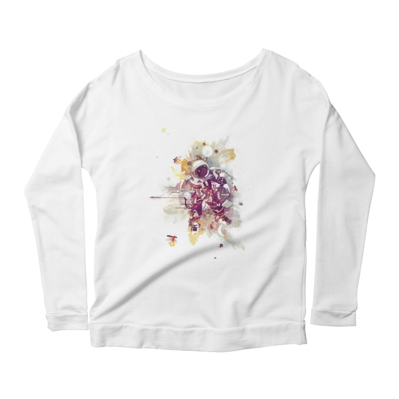Summer Nights Women's Longsleeve Scoopneck  by Travis Clarke's Artist Shop