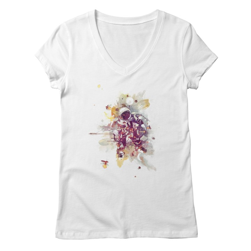 Summer Nights Women's V-Neck by Travis Clarke's Artist Shop