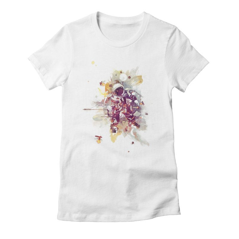 Summer Nights Women's Fitted T-Shirt by Travis Clarke's Artist Shop