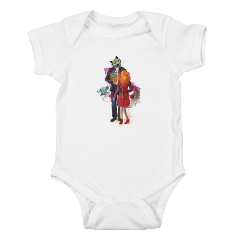 Red Riding, I Am Not Your Wolf Kids Baby Bodysuit by Travis Clarke's Artist Shop