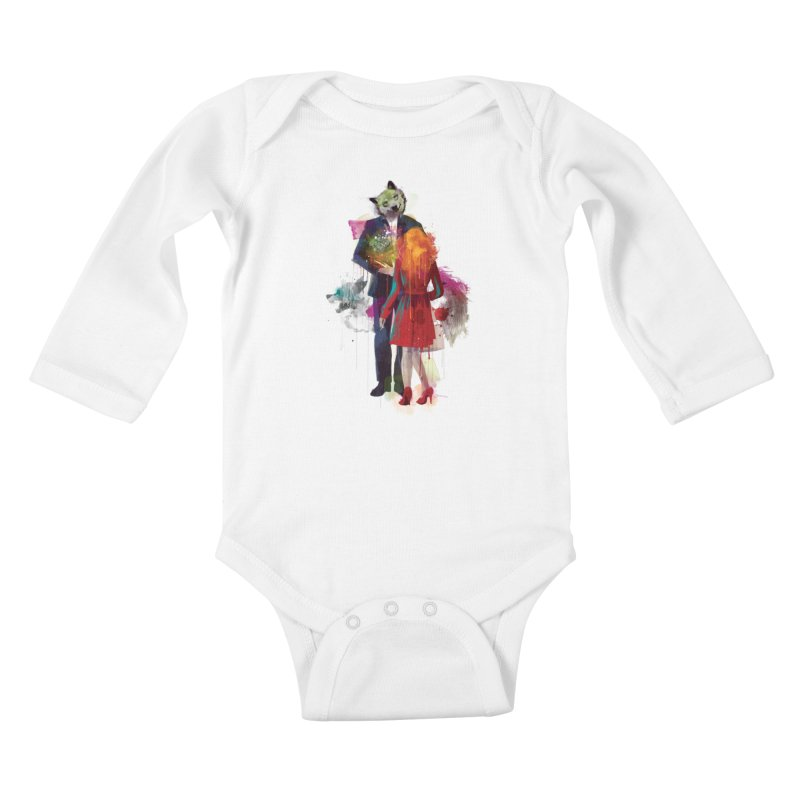 Red Riding, I Am Not Your Wolf Kids Baby Longsleeve Bodysuit by Travis Clarke's Artist Shop