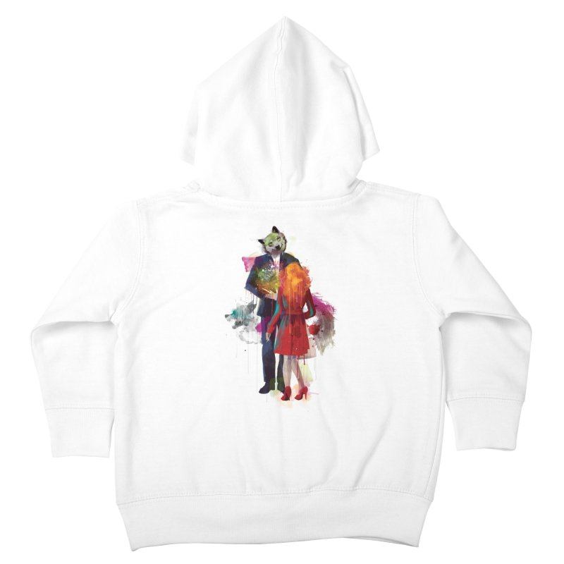 Red Riding, I Am Not Your Wolf Kids Toddler Zip-Up Hoody by Travis Clarke's Artist Shop