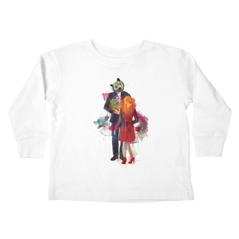 Red Riding, I Am Not Your Wolf Kids Toddler Longsleeve T-Shirt by Travis Clarke's Artist Shop