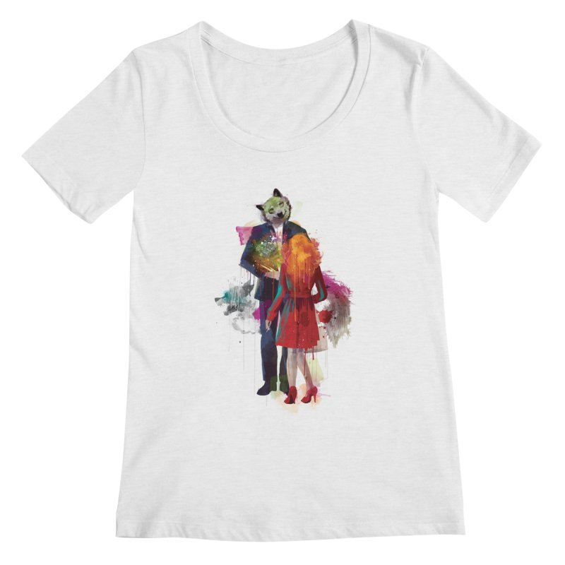Red Riding, I Am Not Your Wolf Women's Scoopneck by Travis Clarke's Artist Shop