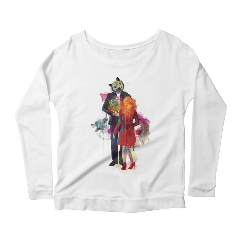 Red Riding, I Am Not Your Wolf Women's Longsleeve Scoopneck  by Travis Clarke's Artist Shop