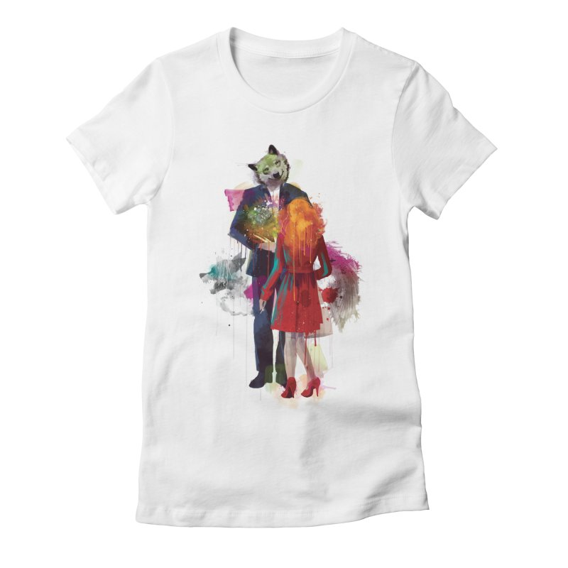 Red Riding, I Am Not Your Wolf Women's Fitted T-Shirt by Travis Clarke's Artist Shop