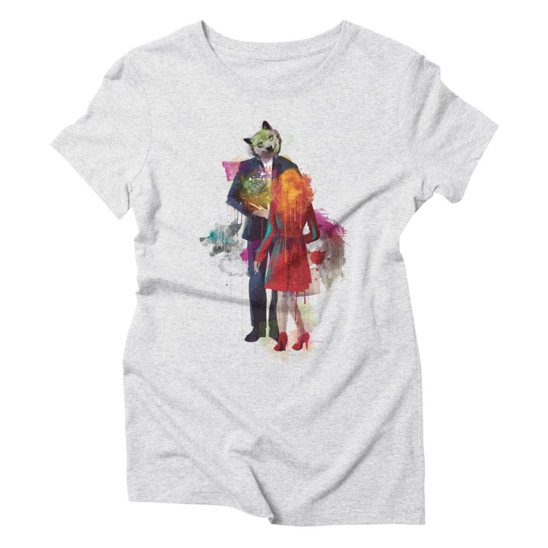 Red Riding, I Am Not Your Wolf Women's Triblend T-shirt by Travis Clarke's Artist Shop