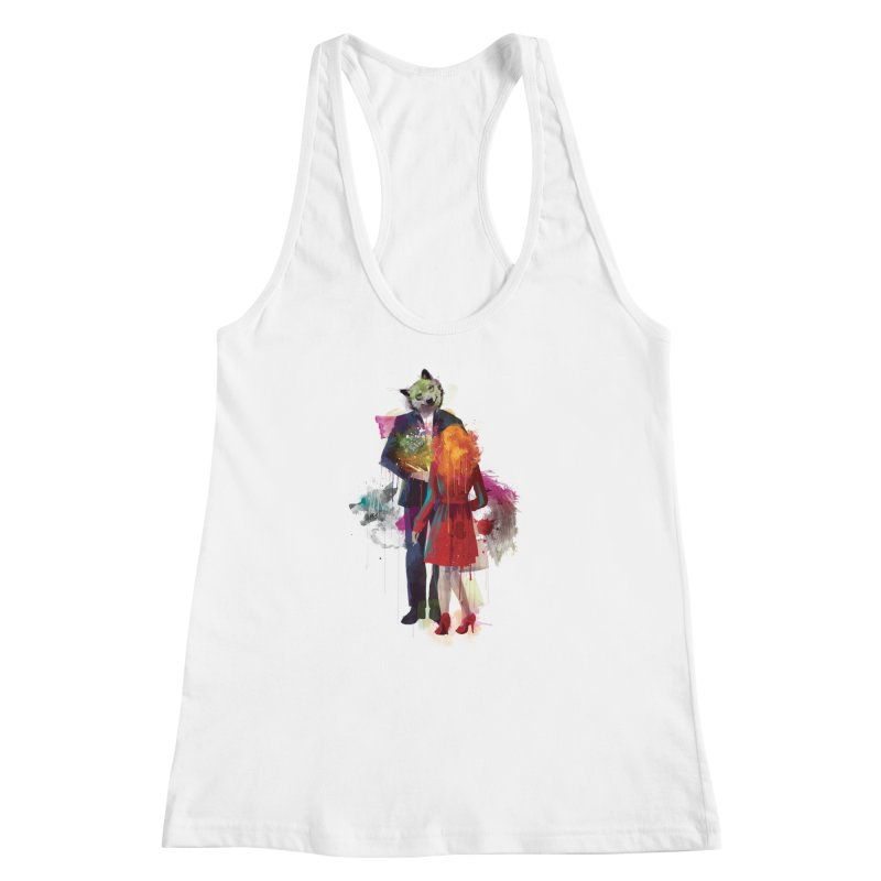 Red Riding, I Am Not Your Wolf Women's Racerback Tank by Travis Clarke's Artist Shop