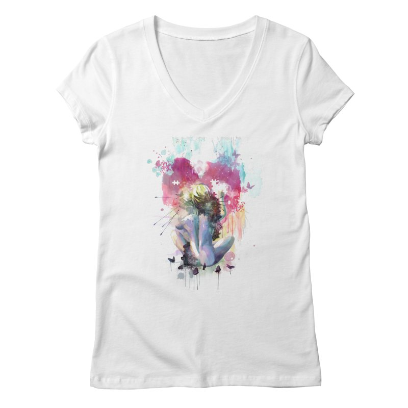 Conundrum Women's V-Neck by Travis Clarke's Artist Shop