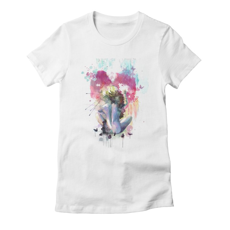 Conundrum Women's Fitted T-Shirt by Travis Clarke's Artist Shop