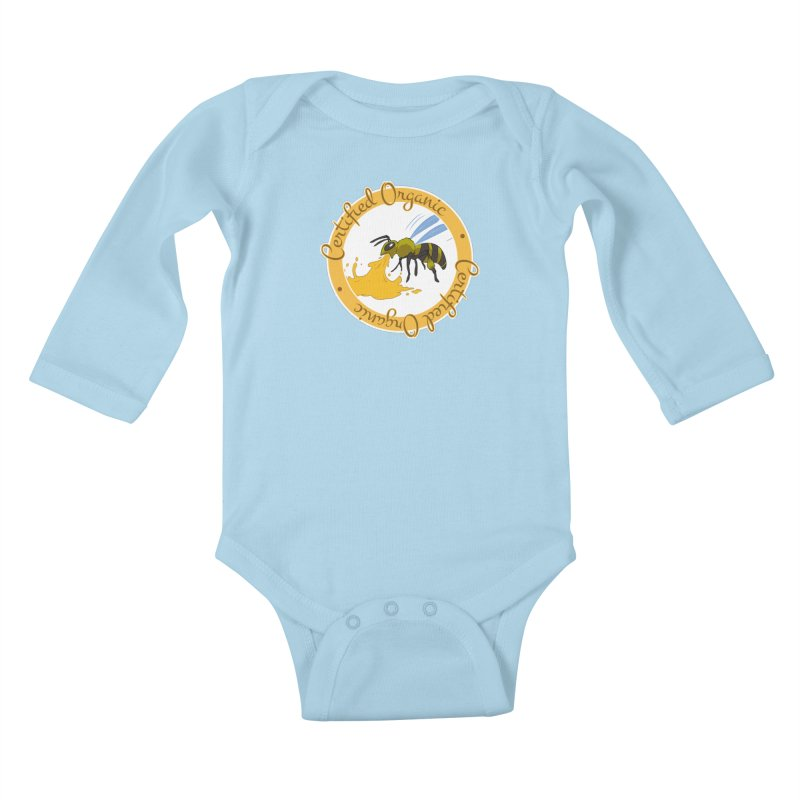 Certified Organic Kids Baby Longsleeve Bodysuit by Travis Gore's Shop
