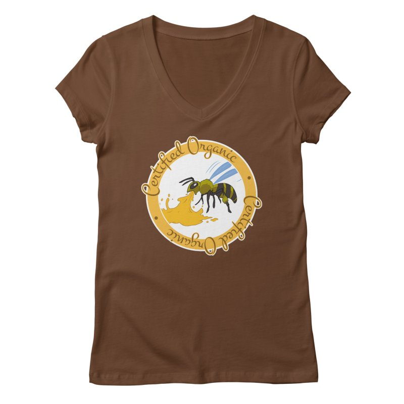 Certified Organic Women's V-Neck by Travis Gore's Shop