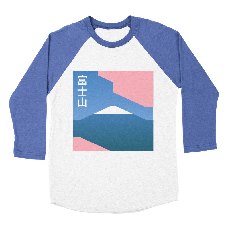Fuji Mood Men's Baseball Triblend Longsleeve T-Shirt by TravisPixels's Artist Shop