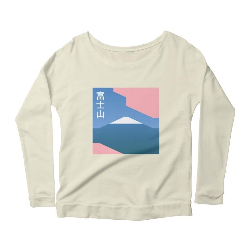 Fuji Mood Women's Scoop Neck Longsleeve T-Shirt by TravisPixels's Artist Shop