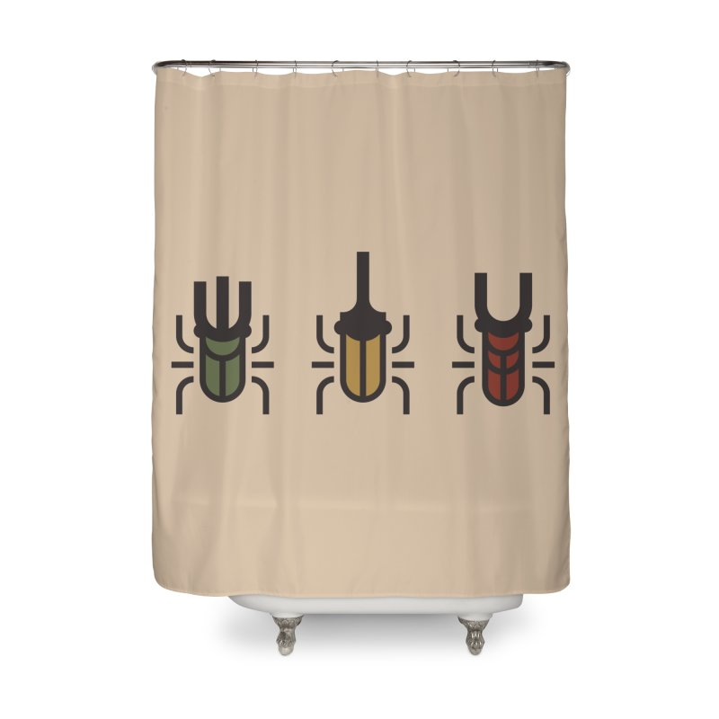 Beetles Home Shower Curtain by TravisPixels's Artist Shop