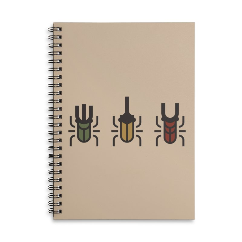 Beetles Accessories Lined Spiral Notebook by TravisPixels's Artist Shop
