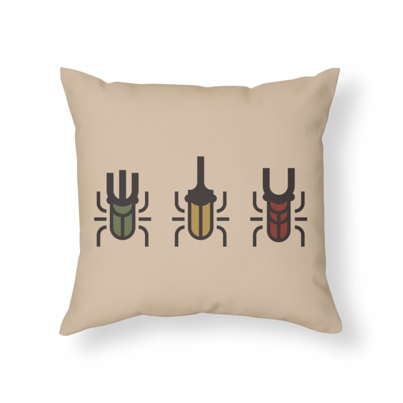 Beetles Home Throw Pillow by TravisPixels's Artist Shop