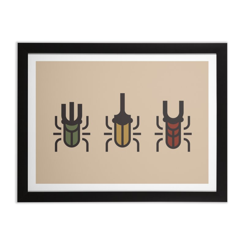 Beetles Home Framed Fine Art Print by TravisPixels's Artist Shop