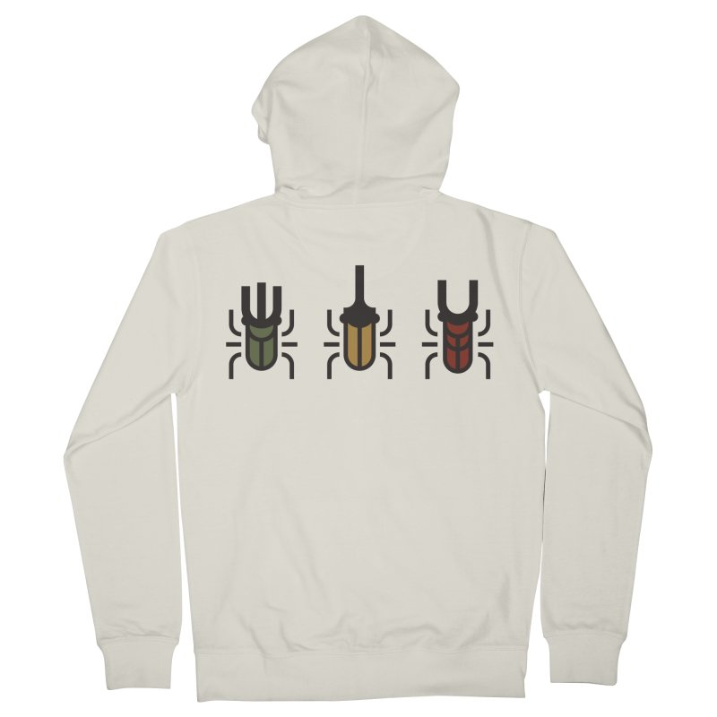 Beetles Men's French Terry Zip-Up Hoody by TravisPixels's Artist Shop