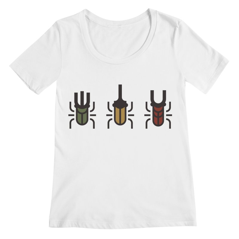 Beetles Women's Regular Scoop Neck by TravisPixels's Artist Shop