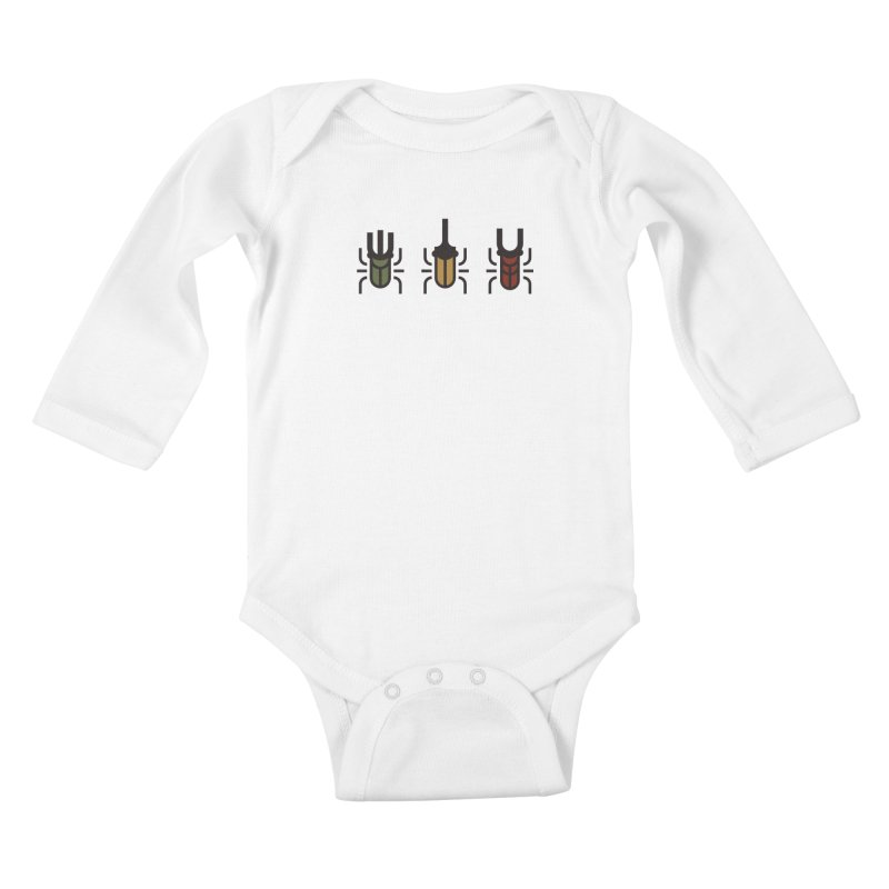 Beetles Kids Baby Longsleeve Bodysuit by TravisPixels's Artist Shop