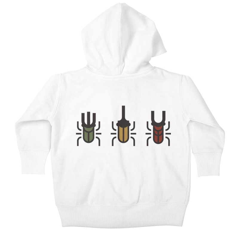 Beetles Kids Baby Zip-Up Hoody by TravisPixels's Artist Shop