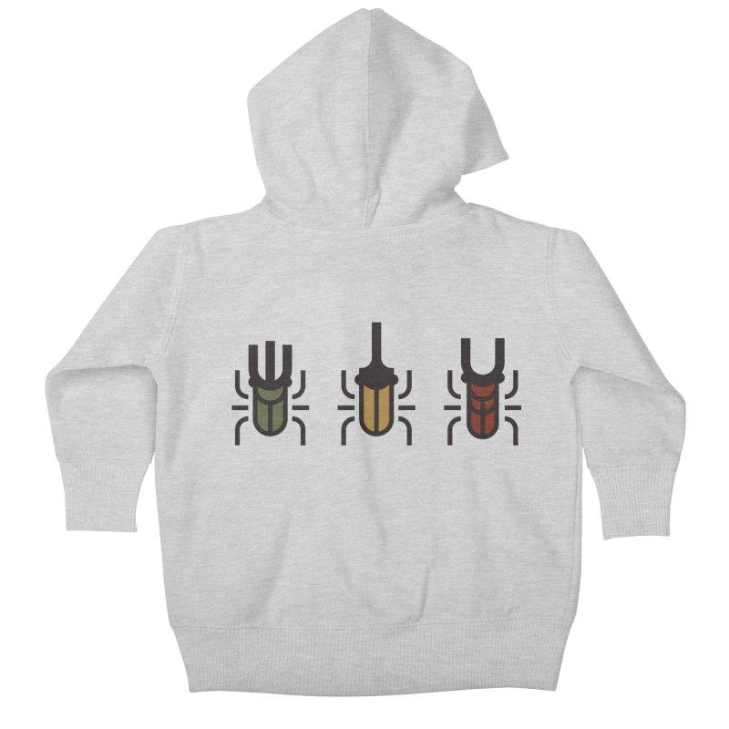 Beetles Kids Baby Zip-Up Hoody by TravisPixels's Artist Shop