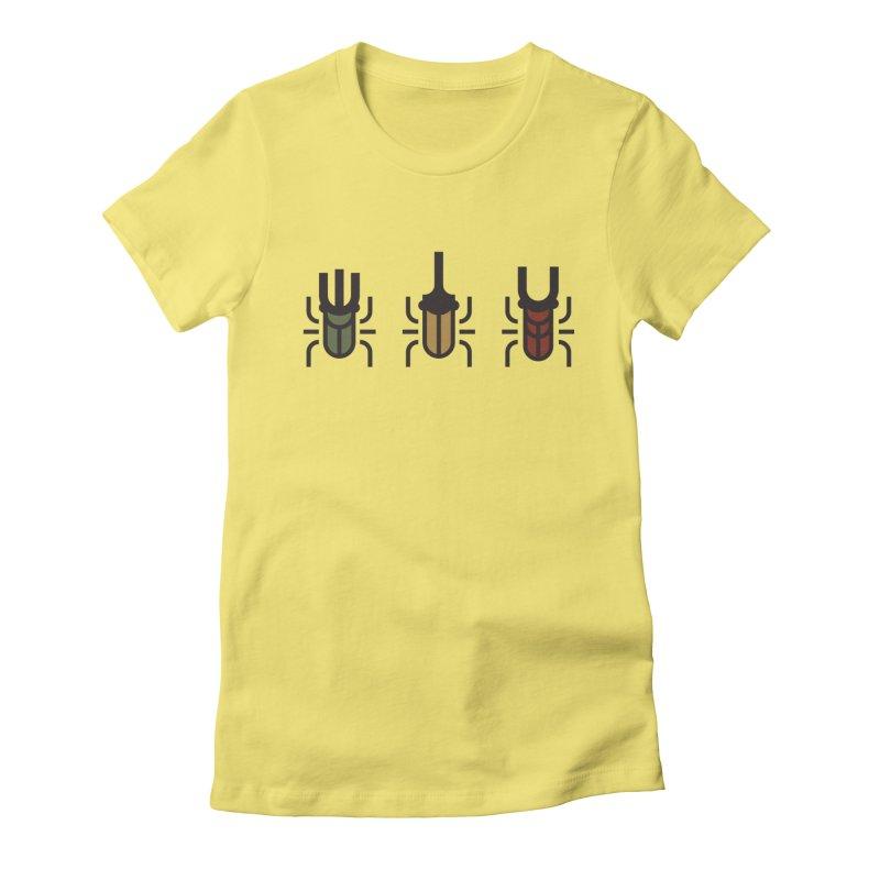 Beetles Women's Fitted T-Shirt by TravisPixels's Artist Shop