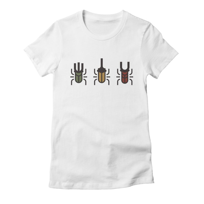 Beetles Women's Fitted T-Shirt by TravisPixels's Artist Shop
