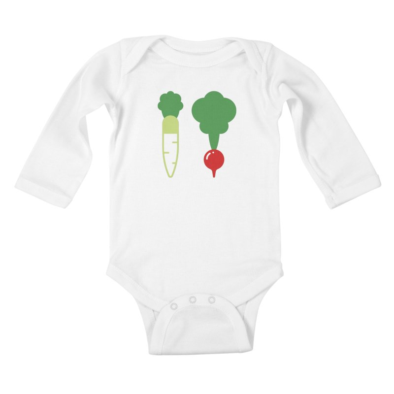 Radish Bros. Kids Baby Longsleeve Bodysuit by TravisPixels's Artist Shop