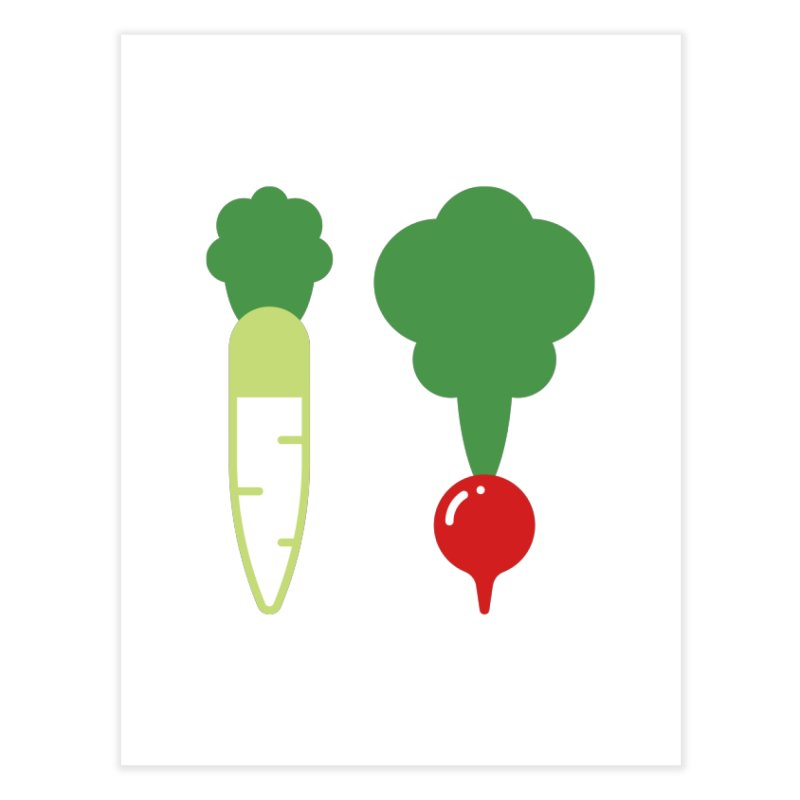 Radish Bros. Home Fine Art Print by TravisPixels's Artist Shop