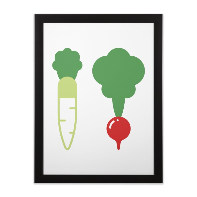 Radish Bros. Home Framed Fine Art Print by TravisPixels's Artist Shop