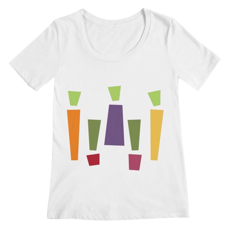 Abstract Vegetables Women's Regular Scoop Neck by TravisPixels's Artist Shop