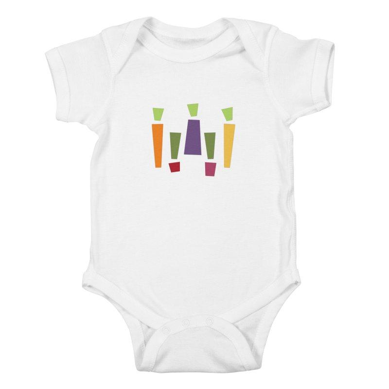 Abstract Vegetables Kids Baby Bodysuit by TravisPixels's Artist Shop