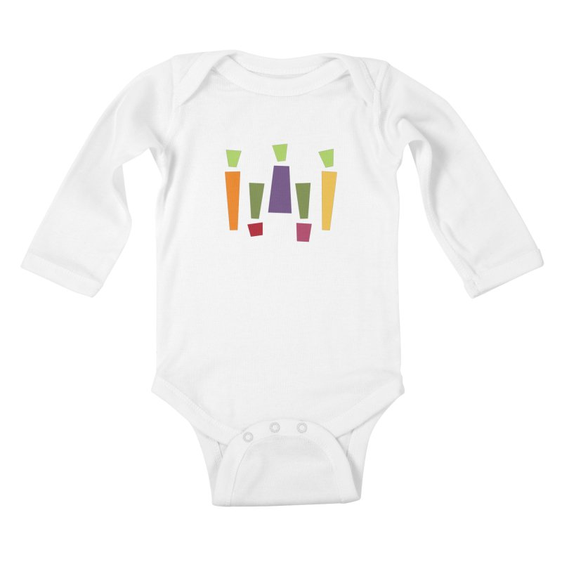 Abstract Vegetables Kids Baby Longsleeve Bodysuit by TravisPixels's Artist Shop