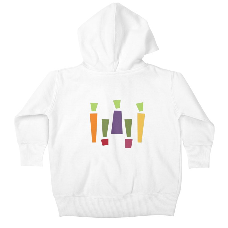 Abstract Vegetables Kids Baby Zip-Up Hoody by TravisPixels's Artist Shop