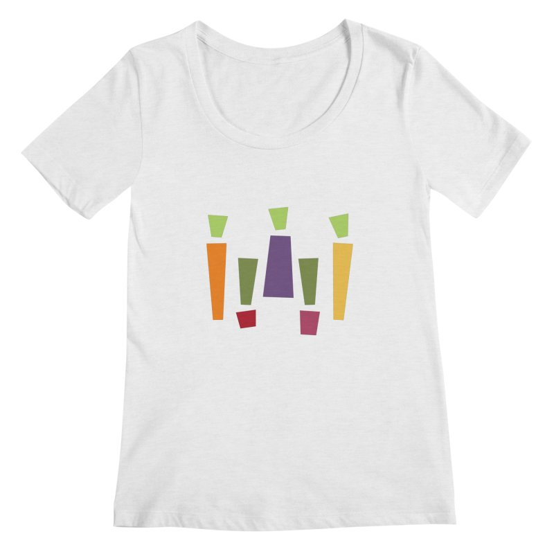 Abstract Vegetables Women's Regular Scoop Neck by TravisPixels's Artist Shop