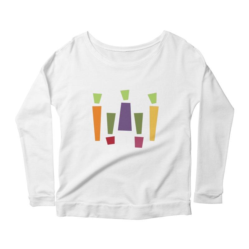 Abstract Vegetables Women's Scoop Neck Longsleeve T-Shirt by TravisPixels's Artist Shop