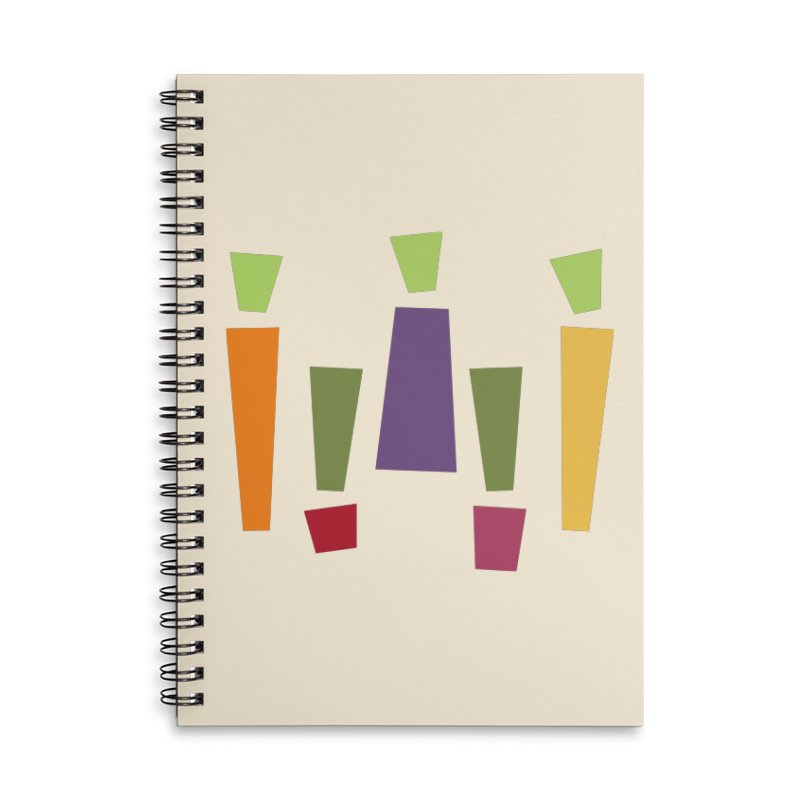 Abstract Vegetables Accessories Lined Spiral Notebook by TravisPixels's Artist Shop