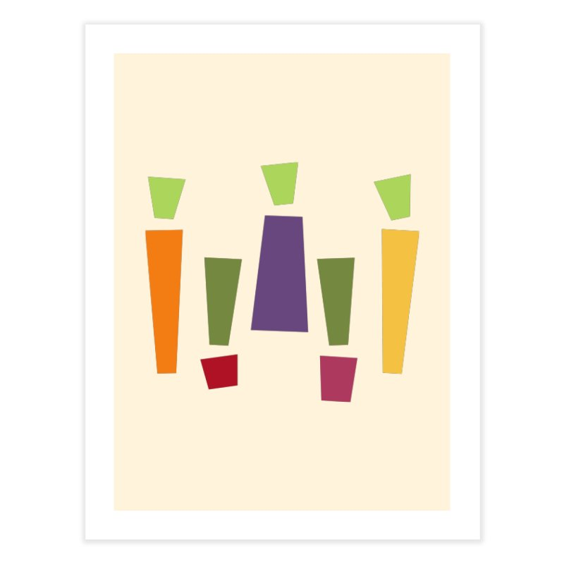 Abstract Vegetables Home Fine Art Print by TravisPixels's Artist Shop