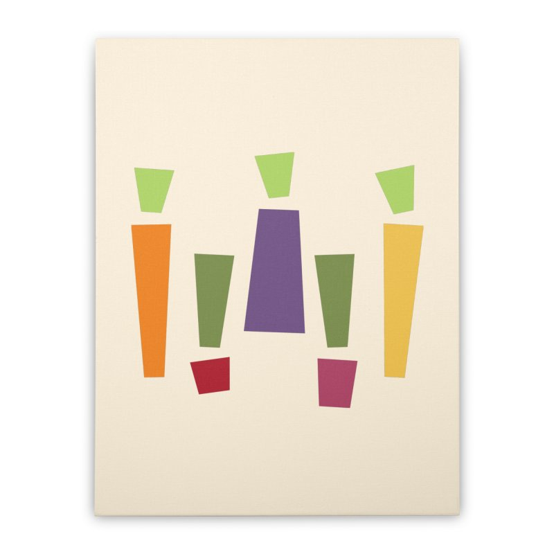 Abstract Vegetables Home Stretched Canvas by TravisPixels's Artist Shop