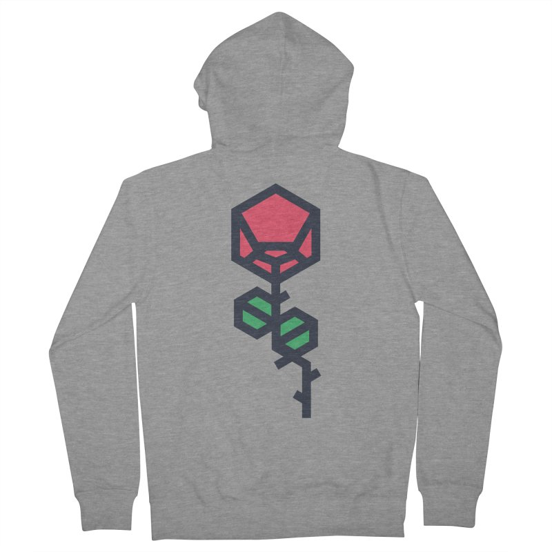 Rose Men's French Terry Zip-Up Hoody by TravisPixels's Artist Shop