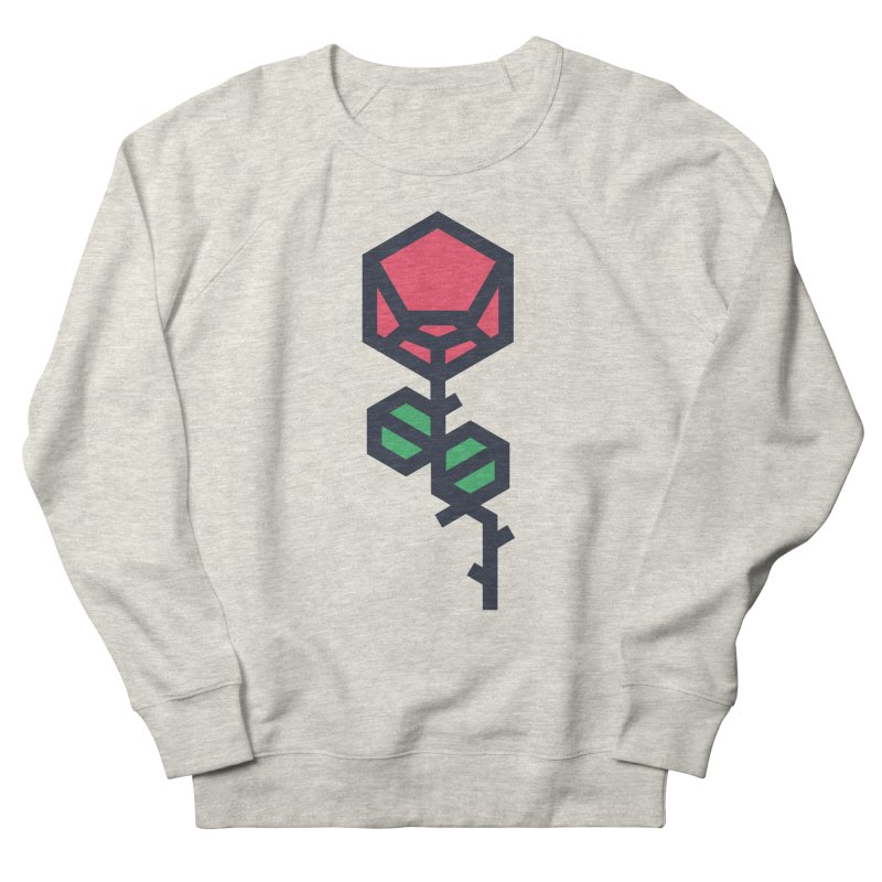Rose Men's French Terry Sweatshirt by TravisPixels's Artist Shop