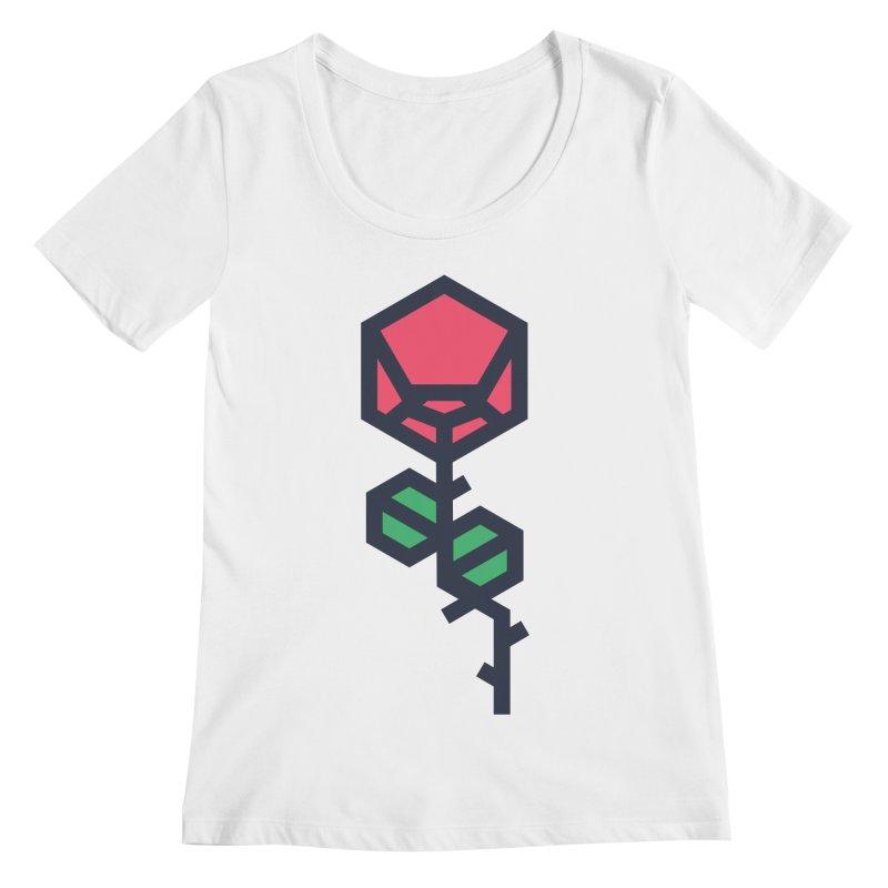 Rose Women's Regular Scoop Neck by TravisPixels's Artist Shop
