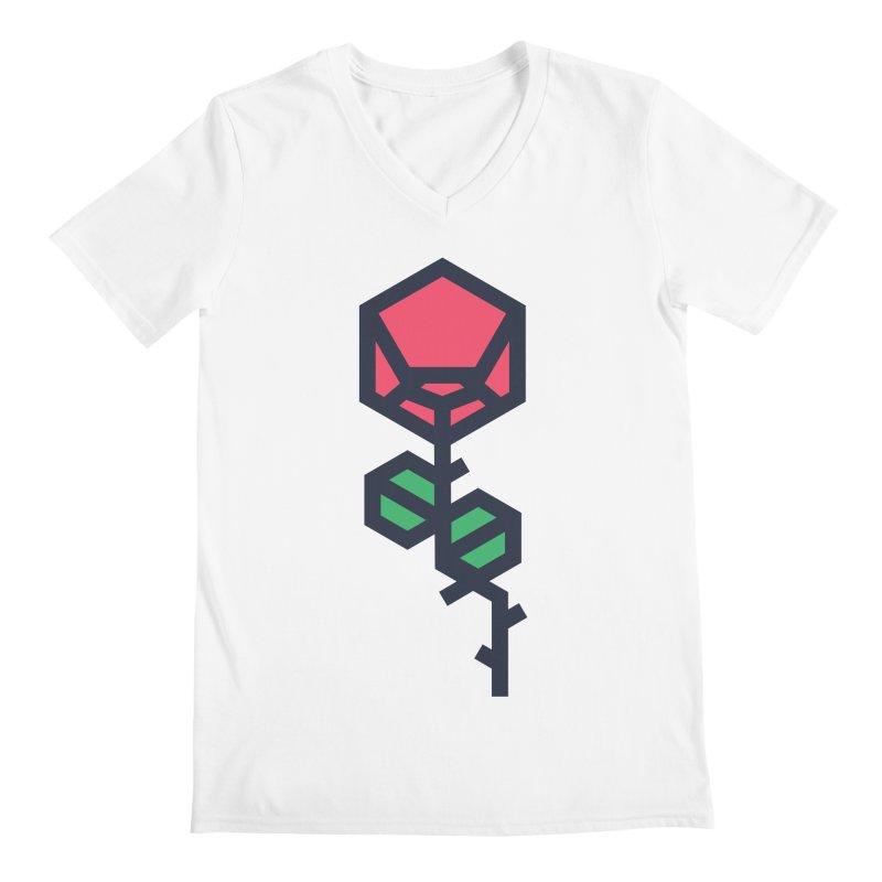Rose Men's Regular V-Neck by TravisPixels's Artist Shop